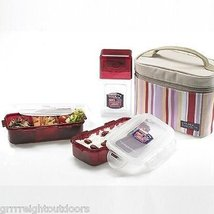 Lock & Lock, Water Tight Lunch Box Set with Water Bottle, HPL754SP, Total 2.8-cu - $26.72