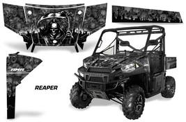 UTV Graphics Kit SxS Decal Wrap For Polaris Ranger 570 900 2013-2015 REAPER BLK - $395.95