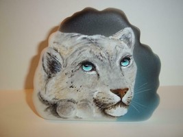 Fenton Glass Wild Cat Snow Leopard Paperweight Figurine Ltd Ed M Kibbe #... - $183.82