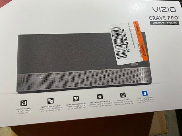 New Vizio SmartCast Crave 360 Wireless Speaker Built-In Bluetooth Audio Mint New
