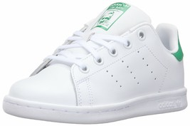 ADIDAS ORIGINALS KIDS' STAN SMITH C FASHION SNEAKER WHITE/WHITE/FAIRWAY ... - $59.39