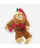 "Bigfoot Sasquatch Monster Plush Stuffed Brown 12"" Yeti Santa Hat Hobby L... - $19.79"
