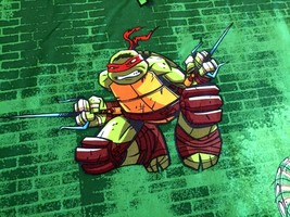 Teenage Mutant Ninja Turtle Trouble Green Full Size Bed Flat Sheet - $17.82