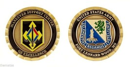 ARMY FORT LEONARD WOOD MANEUVER SUPPORT CENTER OF EXCELLENCE CHALLENGE COIN - $16.24