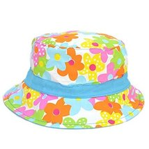 Colorful Flower Pattern Comfortable Sun-resistant Cotton Infant Hat Baby Cap image 2
