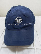 Vintage Tennis Blue White American Needle Unformed Adj Ball Cap! - $14.02