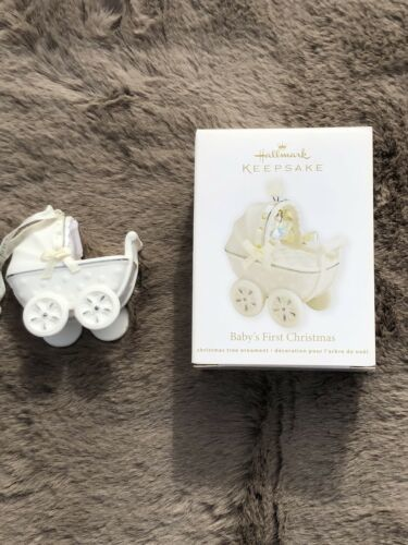 Primary image for NIB Hallmark Keepsake Baby's First Christmas Ornament, 2011, Stroller, Elegant