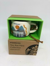 Starbucks Coffee You Are Here Germany Ceramic Ornament Espresso Mug New Box - $14.09