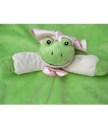ADoorNimals Green Frog Baby Lovey Blankie Soother NuNu A Door Nimals Plush - $19.95