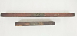 """Stanley Rule & Level Co. Wood Level 28"""" and 15"""" Wooden Levels Lot of 2 - $43.12"""