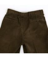 Zanella Italian Velour Pleat Front Cuffed Hem Dark Brown Pants 33 x 27 - $41.43