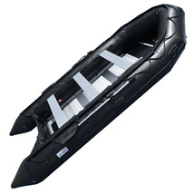 BRIS 15.4 ft Inflatable PVC Boat Inflatable Rescue Fishing Pontoon Boat Dinghy image 2