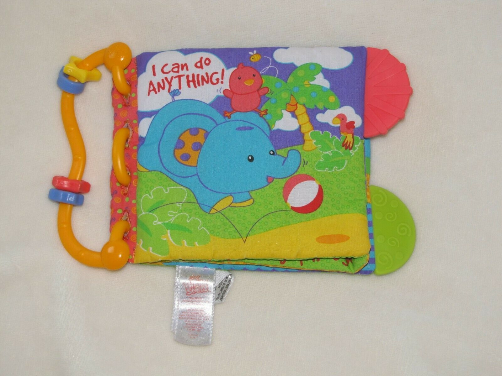 Bright Starts I can do anything Soft Cloth Baby Book Crinkle Squeak Teether Toy - $22.76