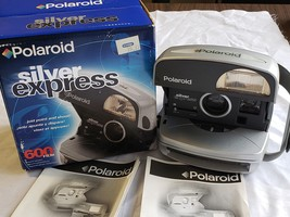Polaroid Silver Express Instant Film Camera 600 w/Flash Vintage, New With Box - $40.00