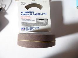 "Johnstone Supply R53-930 Plumber's Abrasive Sandcloth 25yds 1 1/2"" 120 Grit New image 1"