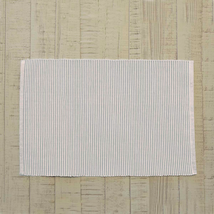 ASHTON Grey Ribbed Placemats - Set of 6 - 12x18 - Dusty Shale/Creme - VHC Brands