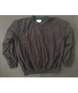 Titleist By Corbin Thick Black Shirt L Velour Crewneck Green Trim Pocket... - $14.84