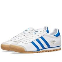 Adidas Originaux ROM Ville Blanc, Royal & Cuir Gris Baskets Chaussures Bleu - $186.34