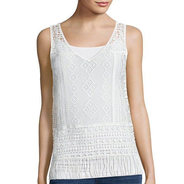 Primary image for a.n.a V-Neck Crochet Tank Top Size PS, PM New Msrp $36.00 Pristine Ivory