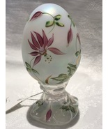 Fenton Glass Limited Edition Egg French Opalescent Irridized with Pink F... - $20.00