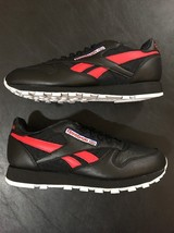 Men's Reebok Cl Leather So BS5208 BLACK/WHITE/GRY/BLUE/RED Brand New Deadstock - $49.99