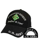 4th Infantry Division Ball Caps for Vets. 100% Cotton and Embroidered - $15.84