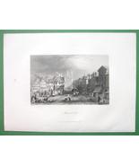 GERMANY City of Brunswick - Antique Print Engraving - $13.77