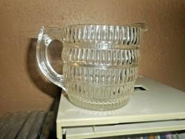Hazel Atlas Glass BEEHIVE Line 350 Clear Creamer ribbed Mid-Century Glassware. - $12.86