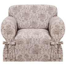Kathy Ireland Chateau Chair Slipcover-Taupe - $82.99