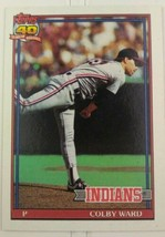 1991 Colby Ward Topps 40 Years Of Baseball Card #31 Cleveland Indians - $20.00