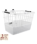 SUNLITE STANDARD MESH BOTTOM LIFT-OFF WIRE/MESH FRONT WHITE BICYCLE BASKET - $29.69