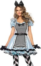 Women's Sexy Psychedelic Alice in Wonderland Deluxe Costume Fairy Tale Cosplay image 1