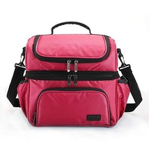 MarsBro Double Deck Insulated Lunch Box for Men Women Diamond Ripstop LargeTote - $26.41