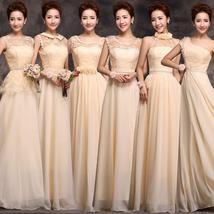 O vestido de dama larga seccion hermanas otono e invierno mujer ropa de champan vestido thumb200