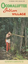 Vintage Travel Brochure Oconaluftee Indian Village Cherokee North Caroli... - $8.90