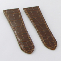 Authentic Cartier Honey Brown Alligator Leather Watch Strap 25.6x19mm KD... - £222.87 GBP