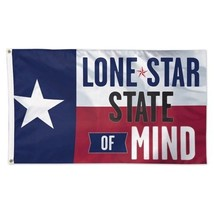 Lone Star State of Mind Texas Deluxe Flag 3x5' NEW Made in USA - $35.59