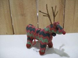 Christmas Reindeer Ornament Acrylic Yarn Backwoods Rustic Christmas Deco... - $12.00