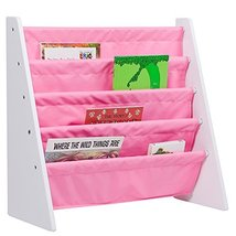Wildkin Sling Bookshelf, Features Durable Fabric and Wood Design, Perfec... - $44.46