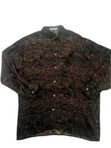 Vintage COOGI Australia Made In Italy Men's Large Button Down Silk Shirt  - $249.59