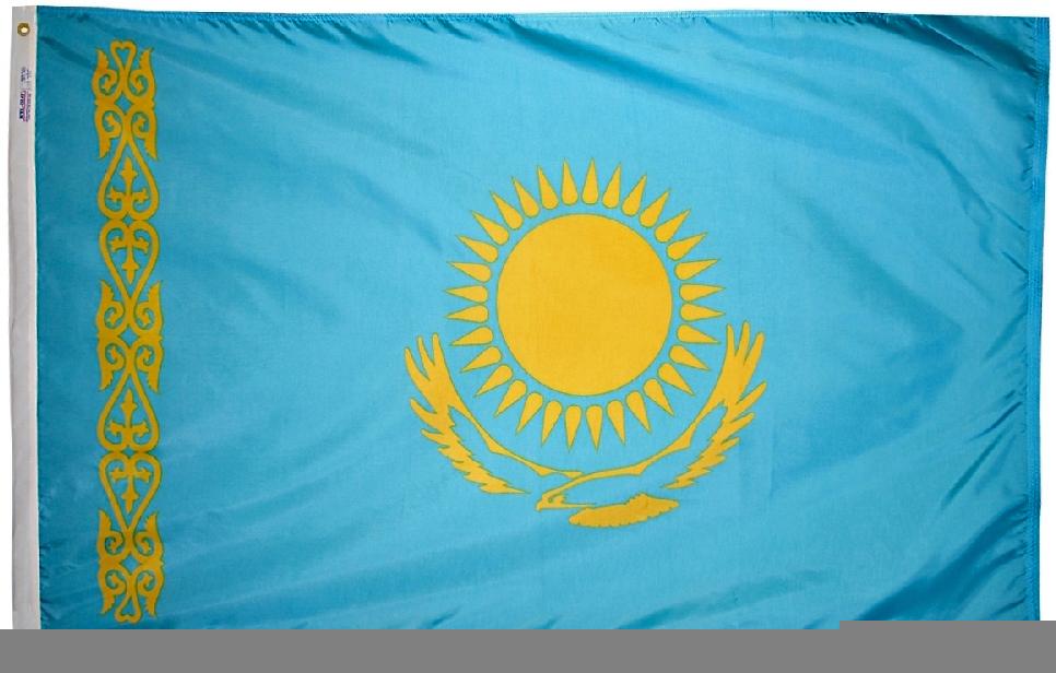 Kazakhstan flag 3x5nylon