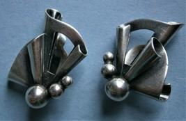 "Sterling Silver Clip-on Earrings signed ""John L - Denmark"" (John L Lauri... - $40.50"