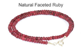 4GN-027 Genuine Faceted Natural Burma Pinkish Ruby Choker Women Necklace - $54.13