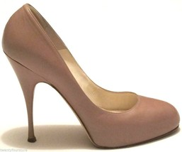 $575 Brian Atwood Shoes Pumps Nude Tonya Scarpa Carpetto Stefenil 38.5 8.5 - $97.02