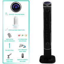 Vie Air 50 Luxury Digital 3 Speed High Velocity Tower Fan with Fresh Air... - $79.98
