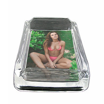 "Hawaiian Pin Up Girls D9 Glass Square Ashtray 4"" x 3"" Smoking Cigarettes - $12.82"