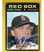 EDDIE KASKO AUTOGRAPHED CARD 1971 TOPPS BOSTON RED SOX - $4.98
