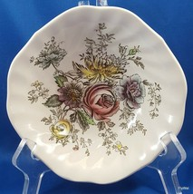 Johnson Brothers Sheraton Cereal Bowl Square Ironstone Multi-Colored Floral - $10.89