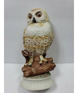 Vintage Ceramic Owl on Branch Yellow Red Eyes Marked 294 Ceramica Creativa - $22.03