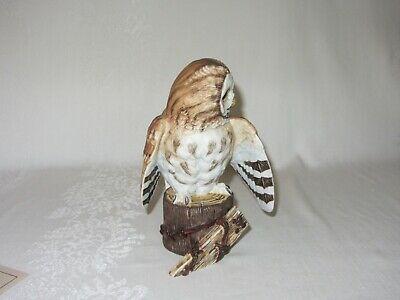 Tawny Owl Hamilton Collection Maruri Majestic Owl Night Vtg Figurine 1986